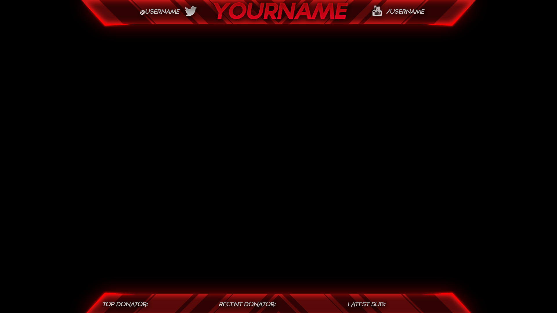 Sick Twitch Overlay Template Abstract | Free Download