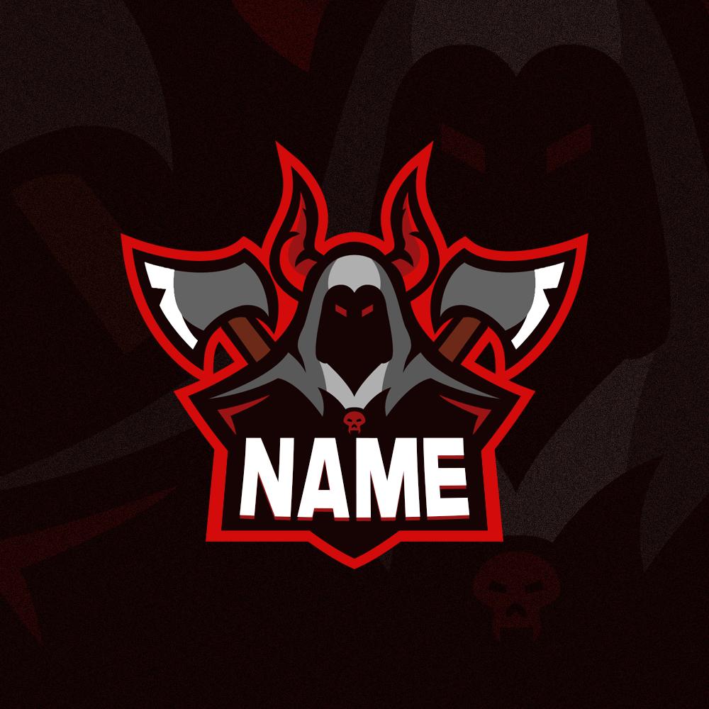 Reaper Gaming Clan Mascot Logo   Free PSD - Zonic Design ...