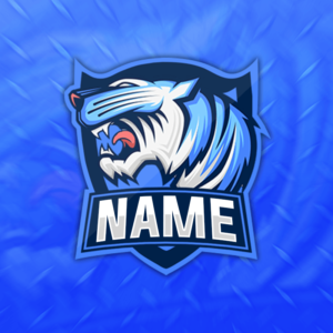 Blue Tiger Gaming Clan Mascot Avatar