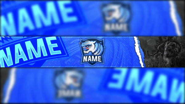 Blue Tiger Gaming Clan Mascot Banner