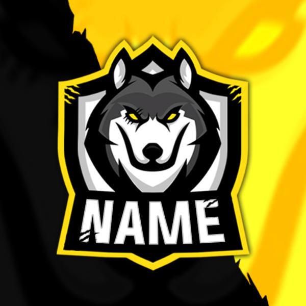 Wolves Gaming Clan Mascot Avatar