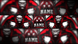 RedSkull Gaming Clan Mascot Banner