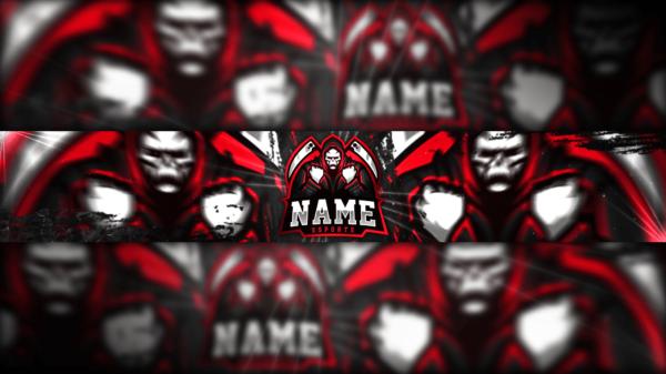 RedSkull Gaming Clan Mascot Banner