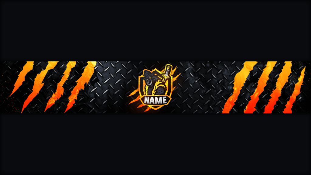 Wolf Gaming Clan Mascot Banner Free Psd Zonic Design Download