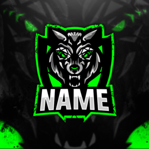Wolf Gaming Clan Mascot Avatar