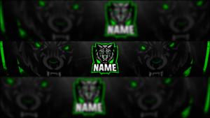 Wolf Gaming Clan Mascot Banner