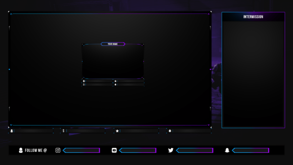 Free Animated Fortnite Twitch Live Stream Overlay Package Template