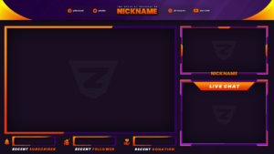 Stream Overlay - Orange and Purple