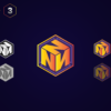 N Logo in 3D Box - Vector