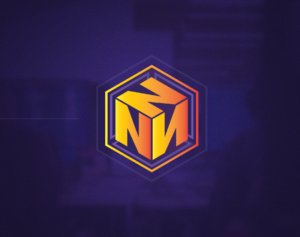 N Logo in 3D Box - Vector